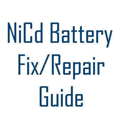 Product picture Fix your NiCd Battery in Few Minutes Audiovox NiCad Batery Revival Guide - NiCad rebuilding Guide
