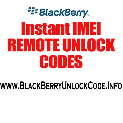 Product picture Canada Fido BlackBerry Thunder remote IMEI unlock code